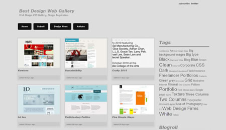 Top CSS Galleries List To Get Web Design Inspiration