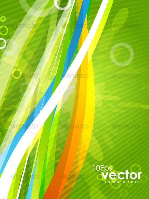 Wavy Abstract Background Colorful Vector Design