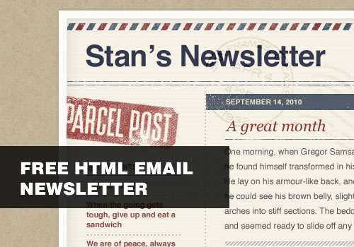 Free HTML Email Newsletter Templates With PSDs Smashing Wall