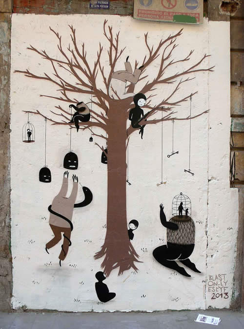 graffiti art by escif