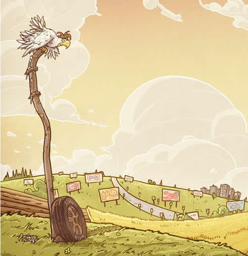 digital illustration by michal dziekan