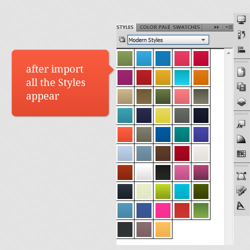 Modern Styles for Adobe Fireworks