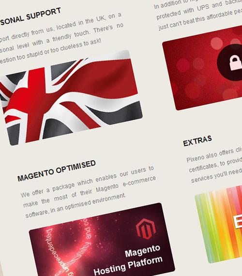 pixeno web hosting features