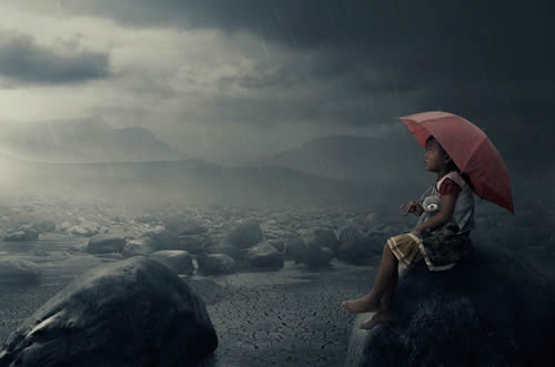 conceptual photo manipulation