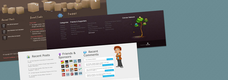 12 Creative and Cute Website Footer Designs