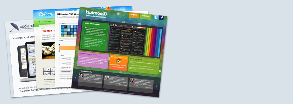 12 Cool HTML5 – Powered Web Apps