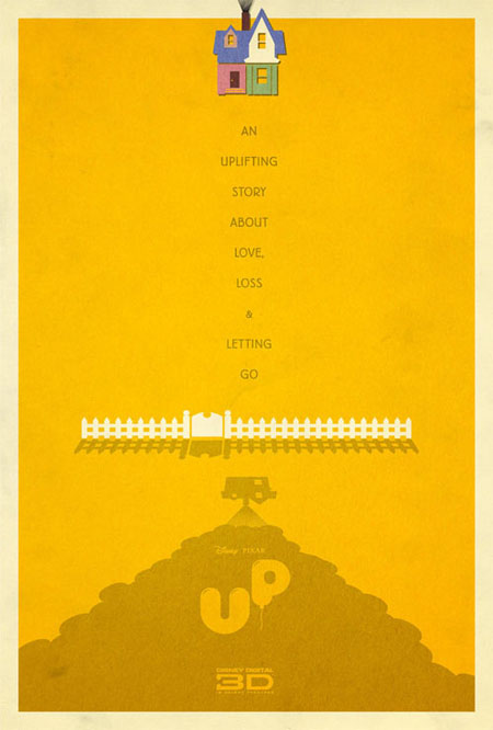 Up retro movie poster