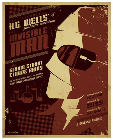 The Invisible Man retro movie poster