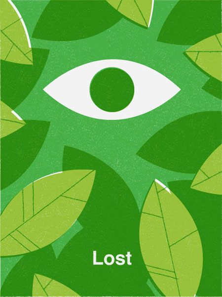 Lost retro movie poster