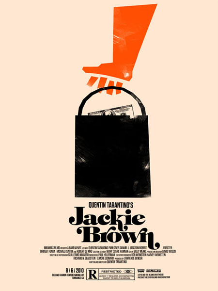 Jackie Brown retro movie poster
