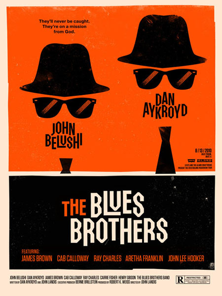 The Blues Brothers retro  movie poster