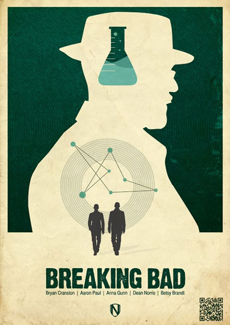 Breaking Bad retro movie poster
