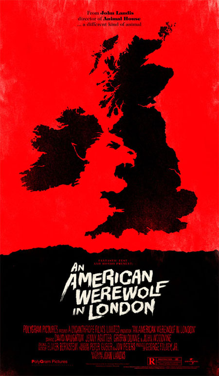 An American Werewolf in London retro movie poster