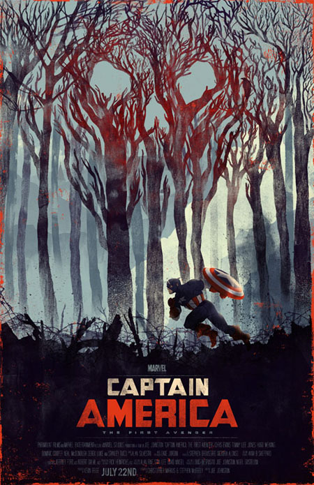 Captain America retro movie poster