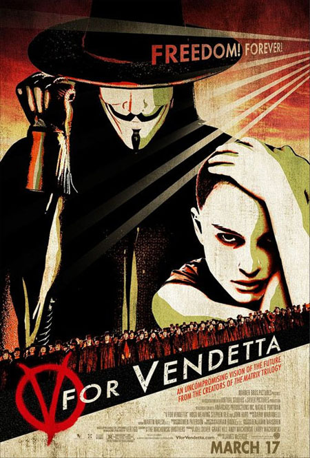 V for Vendetta retro movie poster
